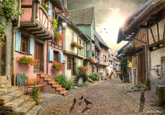 Predator (Jean-Michel Priaux) Tags: bergheim alsace france village city rue way patrimony poetric photoshop hdr painting disney town story storyboard