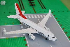 Boeing B737-700 (NG) (microairliner) Tags: lego meso mesoscale jet airplane aircraft plane triplane widebody fahrzeug flugzeug boeing b737 737 700 ng runway crosswindlanding takeoff