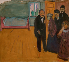Edvard Munch, The Smell of Death, 1895 (Sharon Mollerus) Tags: edvardmunchbetweentheclockandthebedexhibit sfmoma sanfranciscomuseumofmodernart sanfrancisco california unitedstates us cfptig17
