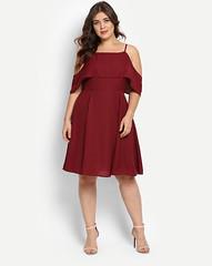 Plus Size Maroon Marcell Cold Shoulder Dress Online (neha.thakur35) Tags: plussizedresses plussizedressforgirls plussizedressesonline