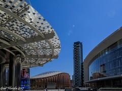 Curvy shapes in the sky (4) (Gian Floridia) Tags: milano piazzagaeaulenti agosto architecture architettura august azzurro blue cielo curvy forma grattacielo shape sinuosa sky skyscraper sole sun