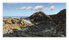 The Giant's Causeway (Katybun of Beverley) Tags: thegiantscauseway bushmills coantrim northernireland ireland basaltcolumns volcaniceruption interlocking rocks rockformation rockpools landscape seascape coastal coast scenery scene scenic sea outdoor