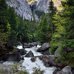 A Morning View of the Merced River in a Mountain Valley (Yosemite National Park) thumbnail