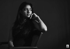 Rashi (rajnishjaiswal) Tags: rashi girl lady sitting portrait strobe strobist chair blackandwhite blackwhite bw