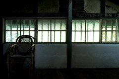 LIGHT POSTURE -- PARTIAL LIGHT 10x10 (NO.2) (藍川芥 aikawake) Tags: part light local lightandshadow awesome beautiful old hourse chair windows backlight backlighting alone atmosphere leave glory