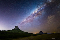 Milky Way over Glass House Mountains (tony.liu.photography) Tags: milkyway galaxy space stars landsacpe mountain coonowrin beerwah glasshouse queensland australia canon 5d4 sigma 14mm 18 art