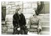 A Winter's Day (vintagesmoke) Tags: vintage snapshot found photo photograph girl women smoking cigarette fur coat outdoor black white monochrome