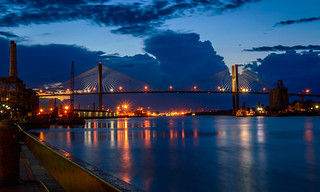 Sunset over The Talmadge Memorial Bridge