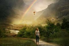 Shambhala (AlicePopkorn) Tags: shambala mystical wonderland dream mythischeskönigreich rainbow balloon girl imagination