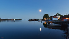 Narrestø 2. sept 2017 (Øyvind Bjerkholt (Thanks for 48 million+ views)) Tags: nightshot moonlight moon moonshine boats seascape landscape blue canon narrestø arendal norway beautiful architecure building dreamy longexposure reflections