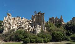 Orgues d'Ille Sur Tet, France (jen.ivana) Tags: rock rocky day sun sky blue outdoor travel landscape summer