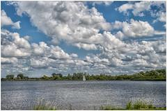Dutch Sky (BobGeilings.nl) Tags: blue clouds comomeer dutchsky grass netherlands sail sailboat trees water