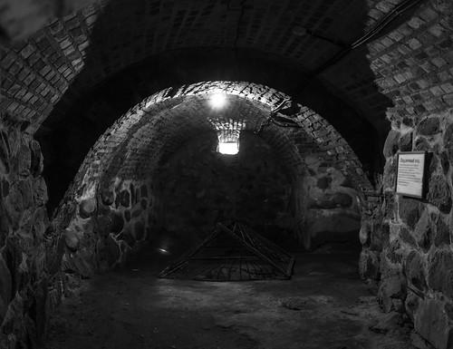 Korela fortress, inside round-gate tower