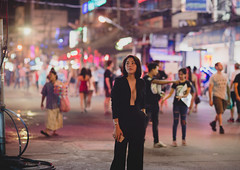 far away (nardell) Tags: thailand candid streetphotography streetscenes thai phuket travel travelphotography woman women banglaroad nightlife tourist tourism