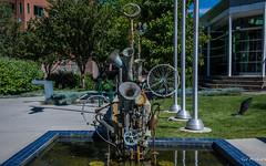 2017 - Road Trip - Castlegar - Sculpture Walk - Honkfest (Ted's photos - For Me & You) Tags: 2017 bc canada cropped nikon nikond750 nikonfx tedmcgrath tedsphotos vignetting sculpture honkfest douglaswalter douglaswalterhonkfest douglaswaltersculpture sculpturedouglaswalter castlegarsculpturewalk sculpturewalk fountain publicart art shadows cans2s
