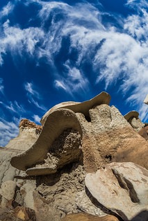 Dramatic Clouds over the Bisti Badlands