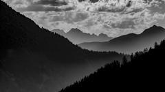 Champex view - Switzerland (Ar-photography.fr) Tags: suisse landscape paysage blackandwhite blackwhite noiretblanc mist fog brume