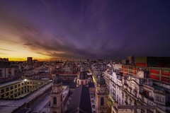 Buenos Aires (karinavera) Tags: city longexposure night photography cityscape urban ilcea7m2 voightlaender sunset argentina cloudy clouds dramatic sky weather