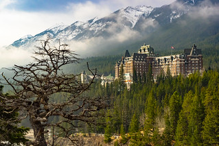 The Fairmont Banff Springs Hotel.  Banff.  Alberta, Canada