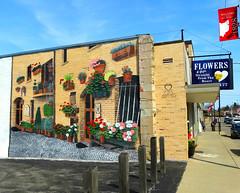 Straight from the Heart (e r j k . a m e r j k a) Tags: ohio columbiana eastpalestine florist mural street signs oh14 oh170 erjk explore