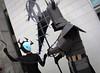 Fanime 2017: Samurai Jack and Ashi (Eras Photography) Tags: cosplay cosplayphotography photos fanime fanime2017 samuraijackcosplay samuraijack cartoons cartoonnetwork ashi ashicosplay samuraijackandashi samuraijackseason5 samuraijackfinalseason ashiandsamuraijack