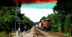 (timetomakethepasta) Tags: train photography engine mixed freight csx bnsf selkirk new york