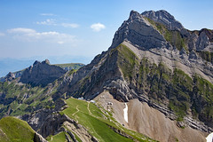 Alpstein Mountain Range (.hd.) Tags: altmann alpstein alps rotsteinpass lisengrat hiking mountains clouds landscape switzerland pass mountainpass hut alpinehut alpine appenzellerland ostschweiz landschaft berge alpen trail hikingtrail