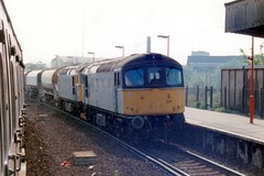 33021 + 33058 Hither Green 24.04.90 (jonf45 - 5 million views -Thank you) Tags: trains railway br british rail diesel locomotive class 33 crompton railfreight construction 33021 33058 hither green 1990