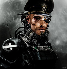 Army (Migan Forder) Tags: military scifi commander general male cyborg