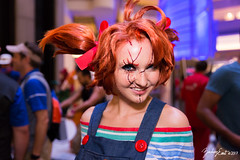 20170901-141747-B10A6494 (zjernst) Tags: 2017 atlanta bow childsplay chucky convention cosplay costume doll dragoncon evil genderbent girl goodguys grin horror knife makeup movie overalls scar scars stitches toy weapon wig woman