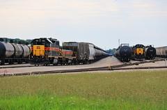 Silvis Interstate (BravoDelta1999) Tags: iowainterstate iais railroad chicagorockislandandpacific crip railway rockisland silvis yard emd gp382 721 sisw sd382 150 sipe manifest train