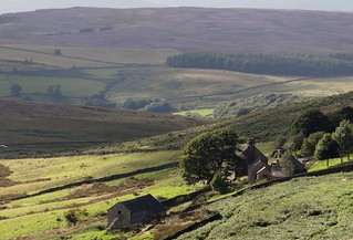 Farmhouse. Burbage Valley. South Yorkshire. Aug 2017