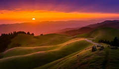Mt Tam Sunset (thefatrobot) Tags: landscape hdr nature light sunset evening bayarea marin california hills golden