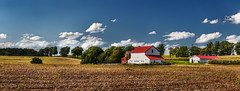 IMG_0564-66Ptzl1TBbLGER2 (ultravivid imaging) Tags: ultravividimaging ultra vivid imaging ultravivid colorful canon canon5dmk2 clouds fields farm rural vista pennsylvania pa panoramic lateafternoon evening autumn barn countryscene scenic