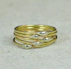 **Free Domestic Ship (alaridesign) Tags: free domestic shipping for all orders over 50 use coupon code shipfree50 thin brass silver dew drop stacking ring these rings 750 each choose nu alari