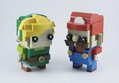 Link & Mario (Mr. Brickman) Tags: mario link zelda nintendo lego brickheadz