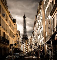 Eiffel Tower - rue saint Dominique (Matthieu Manigold) Tags: eiffel tower rue saint dominique cloud nuage color building tour monument