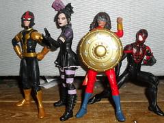 The Young Avengers ... (zaramcaspurren) Tags: samalexander nova kidnova nicominoru sistergrimm kamalakhan msmarvel milesmorales spiderman marvel marvellegends marvelcomics actionfigure actionfigures hasbro