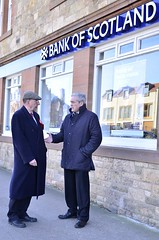 Speaking to Cllr Jim Goodfellow about the closure of Gullane BoS