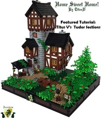 Latest Featured Tutorial! (soccersnyderi) Tags: lego creation technique tutorial guide walkthrough tudor halftimber walls medieval house