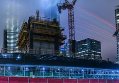 400 folsom foundation (pbo31) Tags: sanfrancisco california urban nikon d810 color august 2017 summer boury pbo31 city black night dark folsomstreet rinconhill financialdistrictsouth construction tower 400 500 blue fog foundation crane panorama stitched large panoramic lightstream motion truck