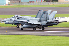 188749 and 188750 (markyharky) Tags: 188749 188750 cf188 caf mcdonnell douglas mcdonnelldouglas f18 hornet cf188hornet canadian air force canadianairforce canadianarmedforces prestwickairport prestwick egpk pik aircraft aviation avgeek