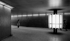 """The Other Day"", Underpass Maximilianstr., Munich (contrelamontre) Tags: underpass bw munich wa urban film filmnoir argentique noireetblanc nb sw trix 70s minimalist minimalistic analog analogue"