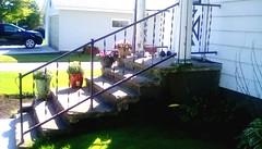 Front stairs - SFS (Maenette1) Tags: front stairs porch railing flowers daughtershouse neighborhood menominee uppermichigan saturdayforstairs flicker365 michiganfavorites