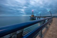 The Brant Street Pier (B.E.K.) Tags: burlington ontario canada brant street pier lake water light structure architecture outdoor landscape sky clouds sunrise longexposure nikond800