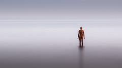 ANOTHER TIME (Nathan J Hammonds) Tags: antony gromley margate sculpture sea calm coast statue long exposre nd filter 10stop bw colour seascape minimal nikon d750