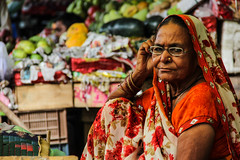 Colors of India (Victoria's Daguerrotype) Tags: india agra markets fruit indian indianwomen agraindia indianfruitmarkets colors canon canon60d travel