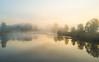 On The Surface (John Westrock) Tags: nature sunrise carnation washington unitedstates us morning river reflection fog foggy pacificnorthwest dronephotography djimavicpro