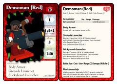 Demoman (Red) Statcard (septentrion.legatus) Tags: lego ldraw tf2 demoman brikwars wargaming tabletop minifig