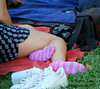 IMG_6232_Pretty in Pink (sdttds) Tags: 2017 30aug2017 davis davisfarmersmarket picnicinthepark feet socks pink cute pretty soles anklet striped beauty power femininity arches toes ankles posed peds piedi pies pés pieds pedibus füse feminine 腳 フィート 足 ноги